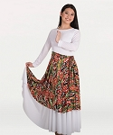 Printed Flowing Panel Tunic/Skirt