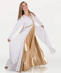 Long Sleeve Dress With Metallic front cross