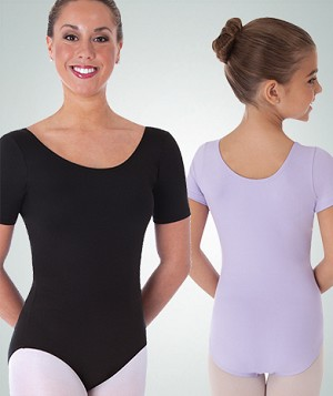 Short Sleeve Ballet Cut Leotard